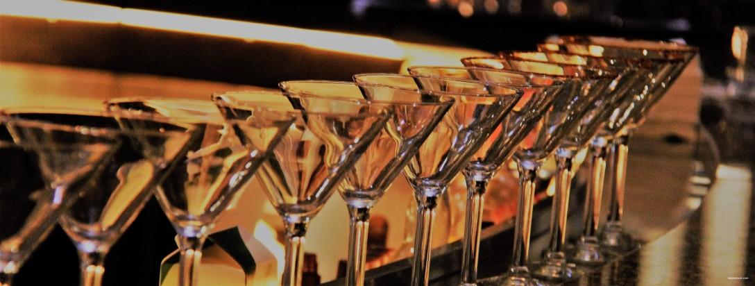 happy hour martini glasses